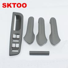 цена на A Set (gray) Inner Door Handle Free shipping For Volkswagen Jetta Bora Golf 4 Interior Handle for VW Handle Inner Armrest