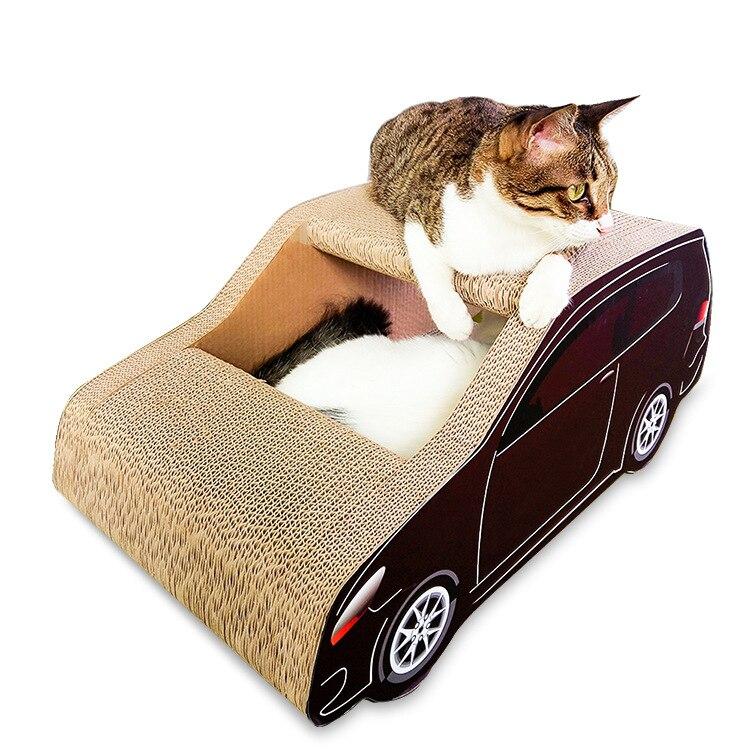 Large SUV Pet Cat Scratcher Corrugated Paper Cat Mat Scratch Post Claws Grinding Scratching Cardboard House Cat Furniture Toys