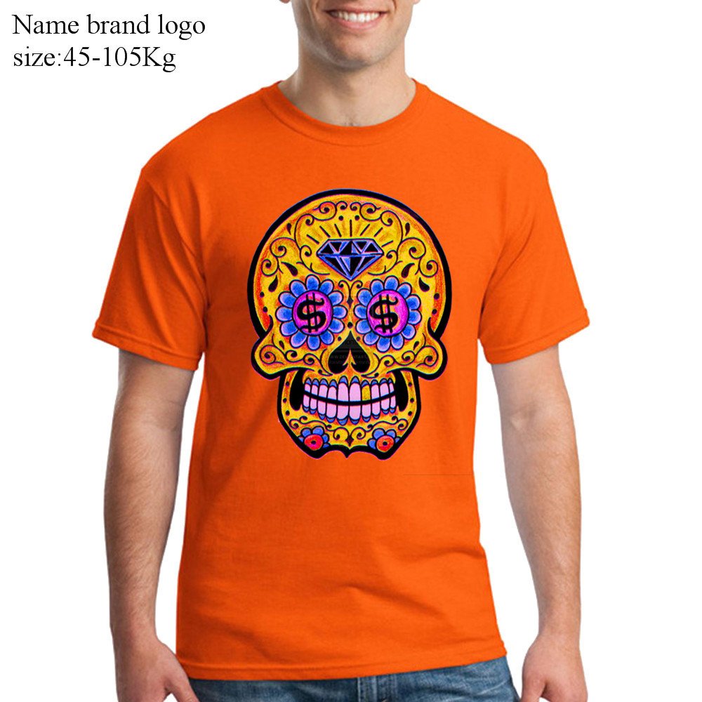 dadda892aa8d Luxury Brand Mens 3d t shirt High Quality Sugar Skull Printed Mexican Skull  Adult tshirt Summer Tops real madrid anime tee shirt-in T-Shirts from Men s  ...