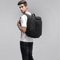17 дюймов ноутбук рюкзак 2019 для мужчин водоотталкивающий функциональный с зарядка через usb порты и разъёмы путешествия рюкз