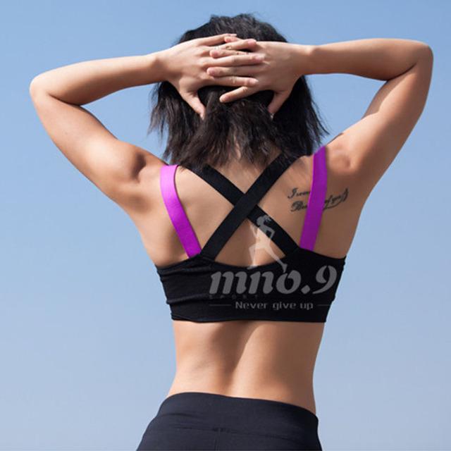 TopPick Sport Shirt Women Running Sport T-shirt Gym Shirt Women Stitching Color Yoga Top Sports Bra Top Fitness Women Sport Bra