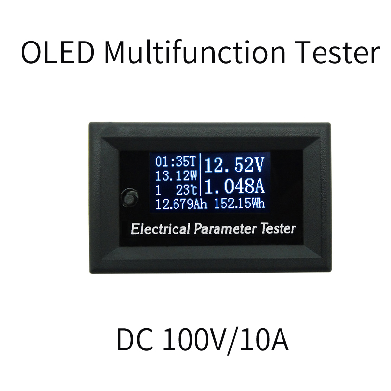 OLED 100V/10A DC Voltmeter display monitor tester Current Meters Charger voltage ammeter battery power supply capacity detection hidance usb oled safety monitor tester current meters charger ammeter voltmeter battery mobile power supply capacity detection