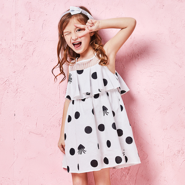 balabala girls Dress 2018 Summer fashion Cotton Girls Clothes dresses A-Line Princess Dress Kids short sleeve clothing costume