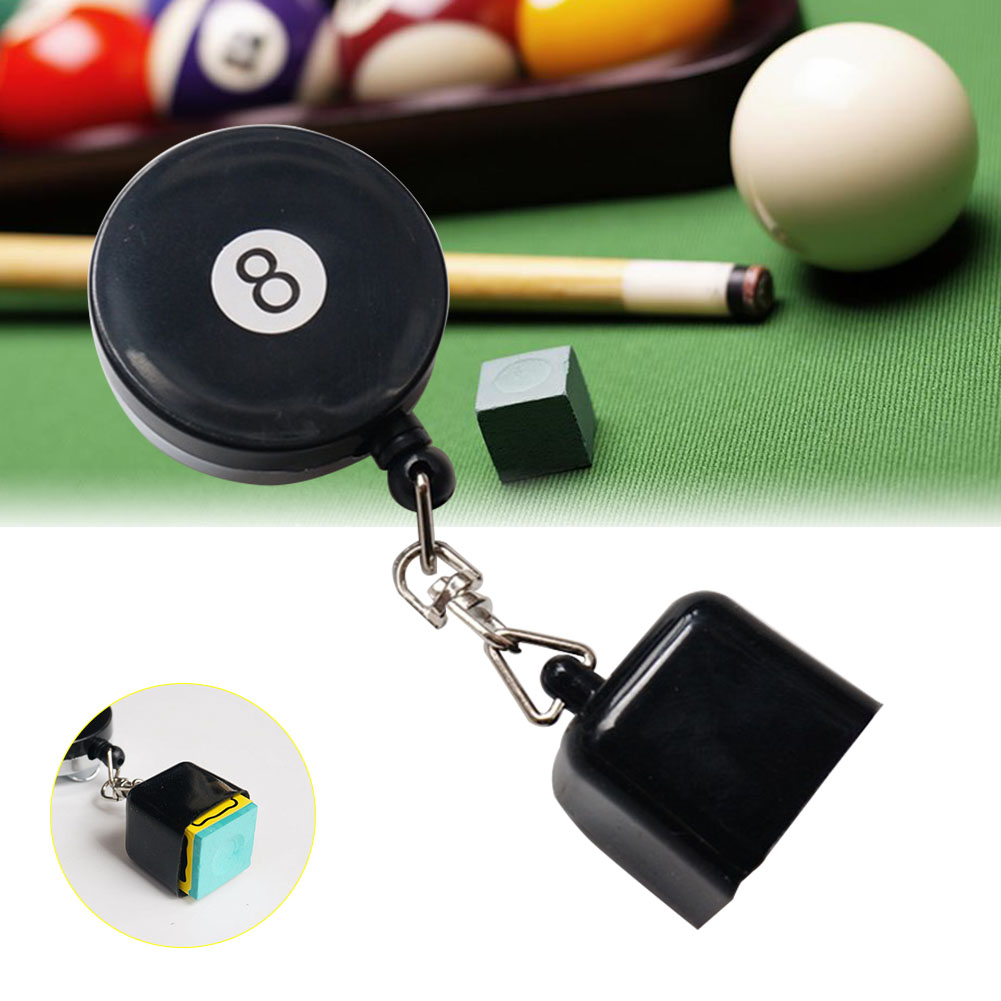 For Billiard Prep Tool Room Table Pocket Chalk Tip Holder Retractable Equipment Durable Practical Sports Snookers Accessory Cue