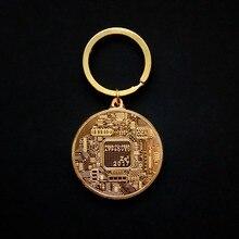 3 Choice Bitcoin Coin Keychain Gold Silver Commemorative Litecoin Ethereum Coin Keychain Coin Car Bag Keyring Jewelry Gift analiz ceny na bitcoin ethereum vialyi rost