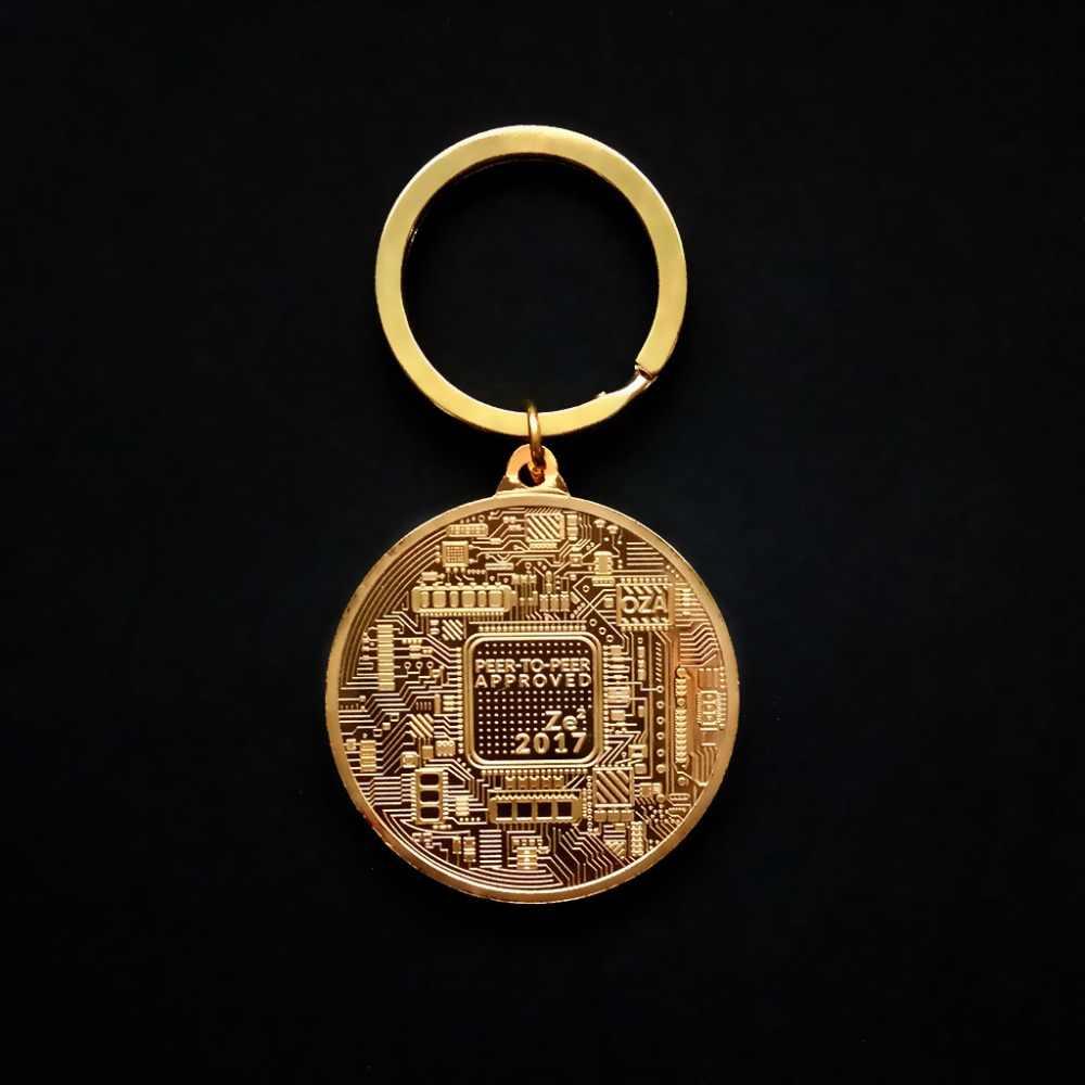 3 выбор Биткойн монета брелок Золото Серебро памятный Litecoin эфириум Монета брелок Монета автомобиль сумка брелок ювелирные изделия подарок