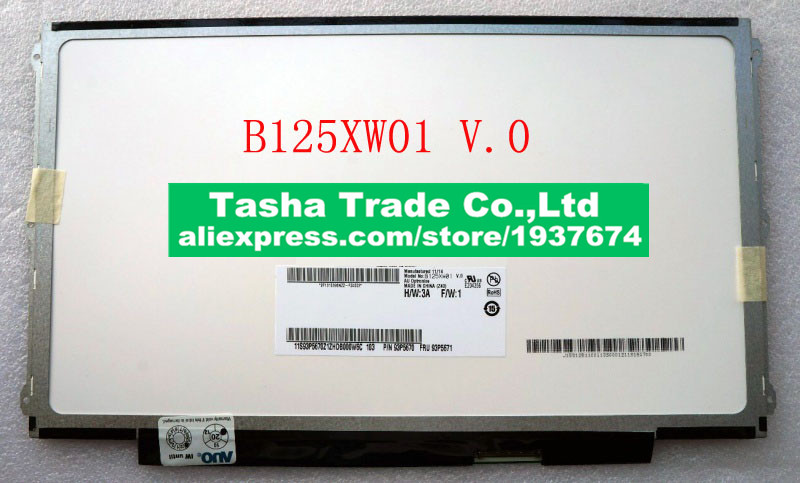 B125XW01 V0 B125XW01 V.0 Matte Laptop Screen LCD Panel 12.5 inch LVDS 40pins Replacement free shipping ltn170ct08 ltn170ct08 d01 17 0 inch original laptop screen pancel 1920 1200 lvds 40pins