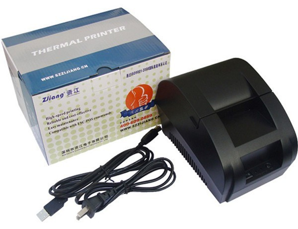 USB port High speed black 58mm thermal Receipt pirnter POS printer low noise mini thermal printer 5890k