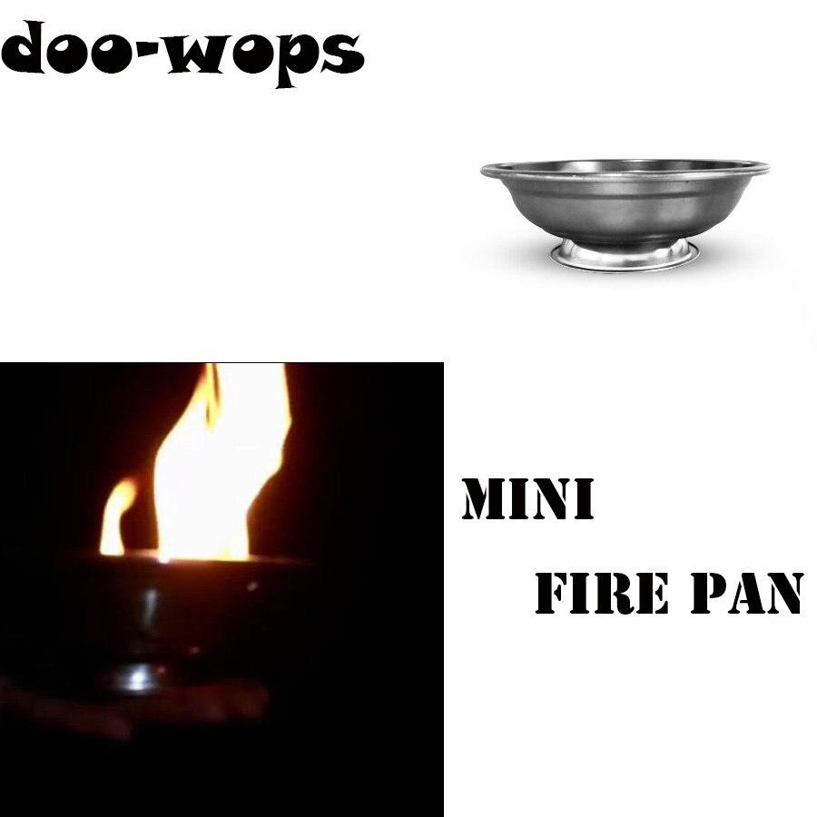 Mini feu Pan tours de magie article de Production Pan magicien scène Illusions accessoires Gimmick facile à transporter objet apparaissant Magia