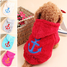 2016Autumn and winter clothes pet anchor coral velvet hat dog clothes supplies