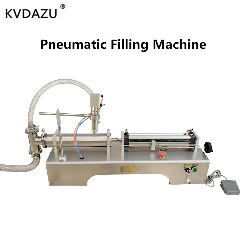 Pneumatic Piston Liquid Filling Machine Shampoo Gel Water Wine Milk Juice Vinegar Coffee Oil Drink Detergent  Perfume Filler