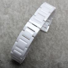 Watch band watch accessories ceramic white watchband diamond watch general 16 18mm