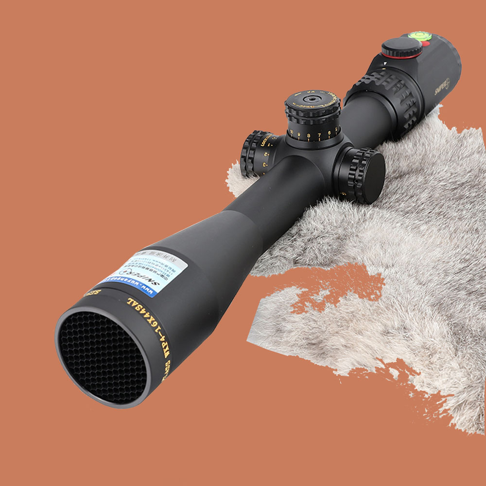 SNIPER WKP 4-16X44 SAL Hunting Riflescope Glass Etched Reticle RG Illuminated Side Parallax Sights with Bubble Level Rifle Scope pair of embossed alloy beads triangle earrings