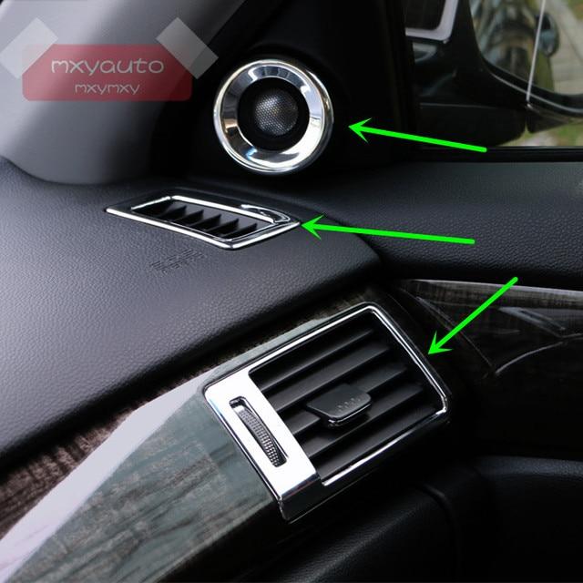 6pcs Chrome Interior Moulding Air Vent Door Speaker Eco On Trim For Honda Accord Sedan Mk9