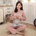 2XL Tamaño Grande Pijamas Pijamas de Mujeres Pijamas Mujer Pijamas Pijama Pijama Femme Feminino Inverno Pigiama Donna Tamaño Pijama de Conjunto