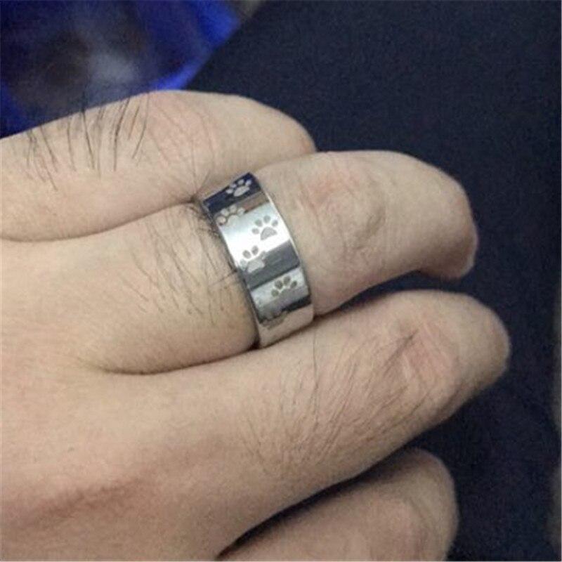 Haustier-Katzen-Hundetatze Arc En Ciel Acier Inoxydable  Anime Finger Ring