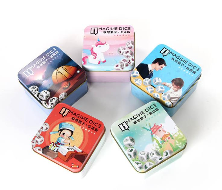 Lovely Magine Story Dice Puzzle Board Game Telling Story English Instructions Family/party Game Children Expression Training Reliable Performance Card Games