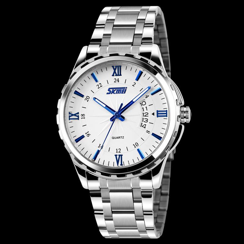 Prix pour Montres hommes marque de luxe Montre Skmei 9069 quartz Numérique hommes en acier plein montres de plongée 30 m montre Sport relogio masculino