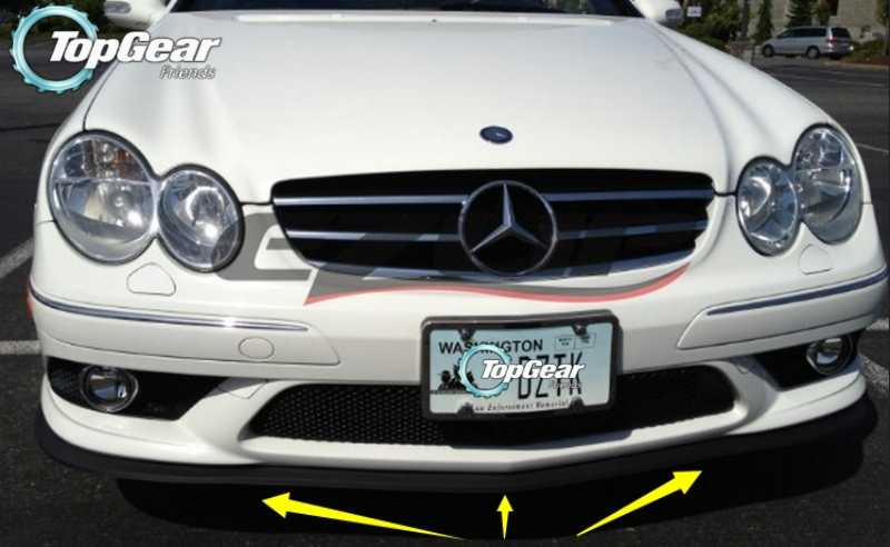 Per Lip Deflector For Mercedes Benz Clk C208 A208 C209 A209 C207 A207 1996 2016