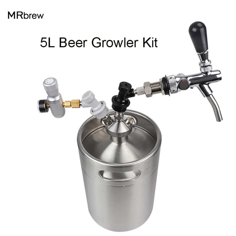 New 2018 Stainless Steel 5l Mini Beer Growler Mini Keg