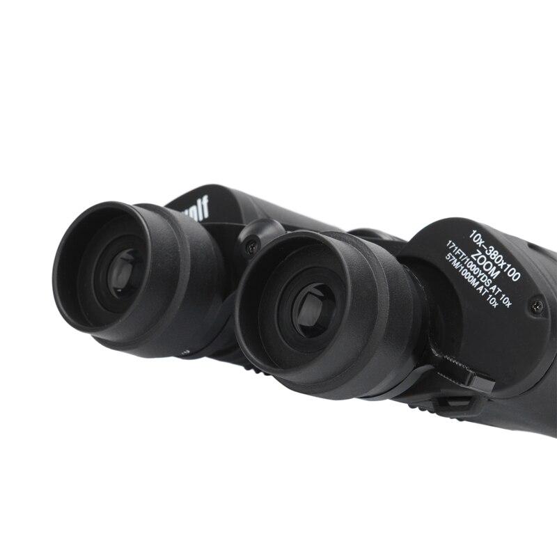 Borwolf 10-380X100 alta magnificación de largo alcance de zoom de 10-60 veces caza telescopio binoculares HD profesional de Zoom - 3