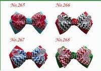 Wholesales Free Shipping New Style 24cs 4 Inch High Quality Grosgrain Ribbon Hair Bows Children Hair