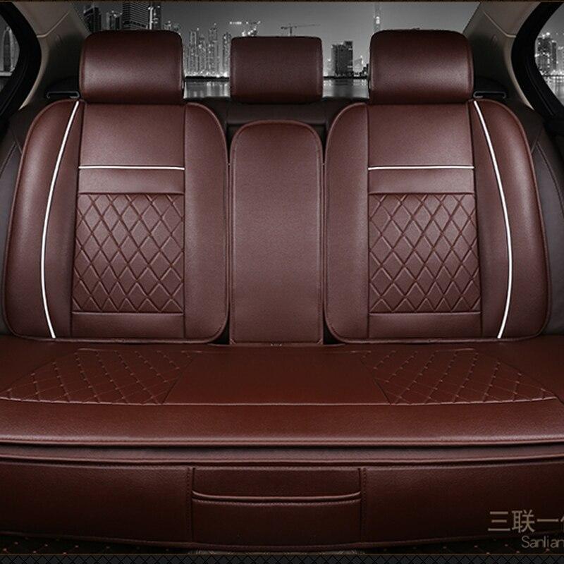 Imperméable à l'eau arrière siège de voiture couvre universel PU cuir coussin protecteur Pad Mat Fit la plupart des accessoires de voiture intérieur - 3