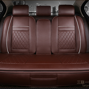 Image 3 - Waterproof Back Rear Car Seat Covers Universal PU Leather Cushion Protector Pad Mat Fit Most Car Accessories Interior