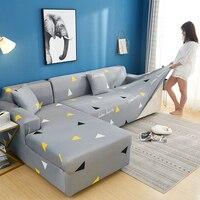 2 pçs capa de sofá de canto capa de sofá elástica para sofá secional em forma de l capa de sofá de estiramento chaise longue slipcover l forma|Capa p/ sofá| |  -