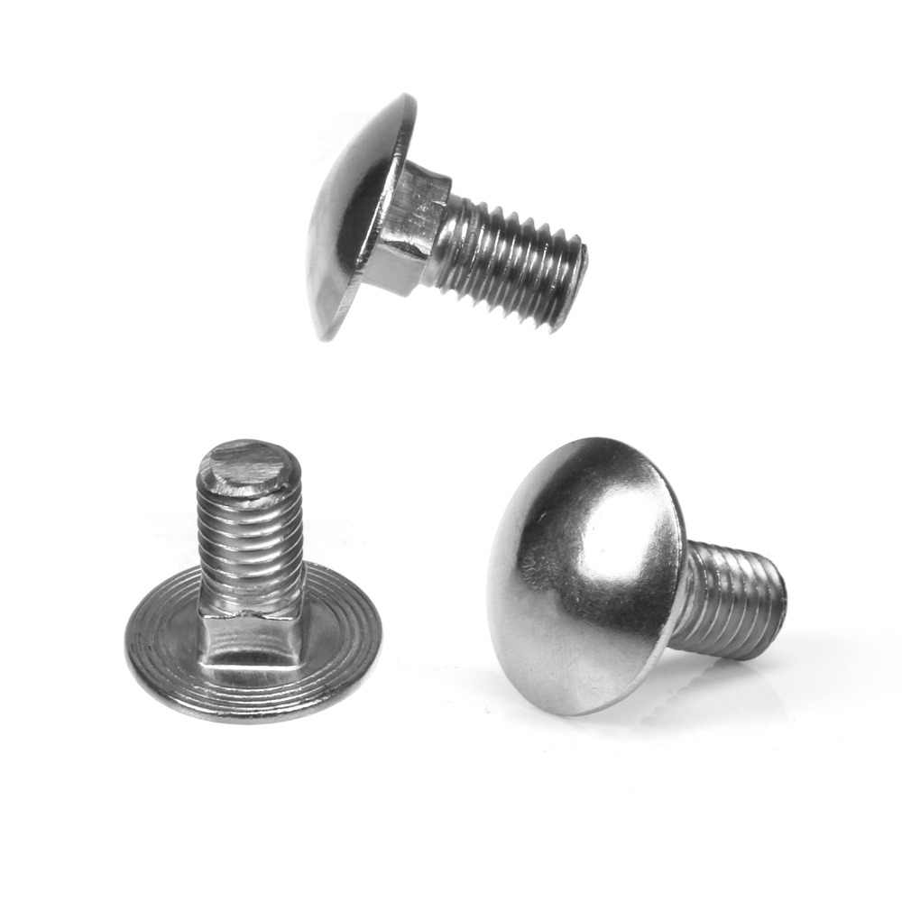 Pack of 1 Coach Bolts M10 10mm x 100mm A2 Stainless Steel Cup Square Carriage Bolts Without Nuts