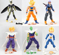 6 unids/set Dragonball Z Dragon Ball Anime DBZ 15 cm Goku Piccolo Vegeta Gohan super saiyan Joint Movable Figura de Acción juguete