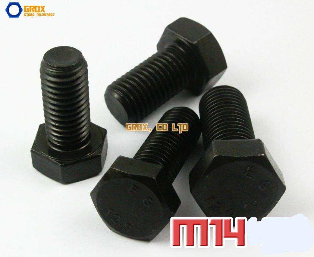 Ctzrzyt M6 x 40mm 12.9 Boulon en alliage dacier a tete hexagonale a tete creuse Vis boulons Noir 10 Pieces