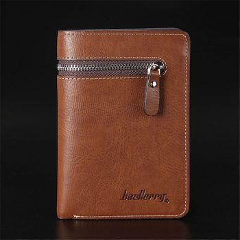 ISKYBOB short leather men's wallet high quality guarantee zipper purse for male nice coin purse Men Wallets
