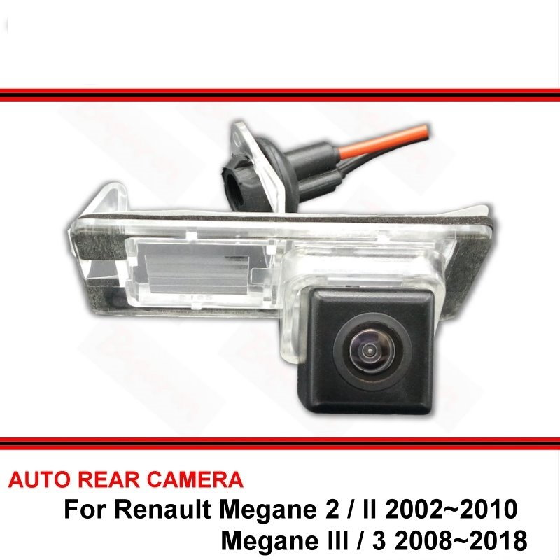 For Renault Megane II III Megane 2 3 2002-2018 Night Vision Rear View Camera Reversing Camera Car Back Up Camera HD CCD Vehicle