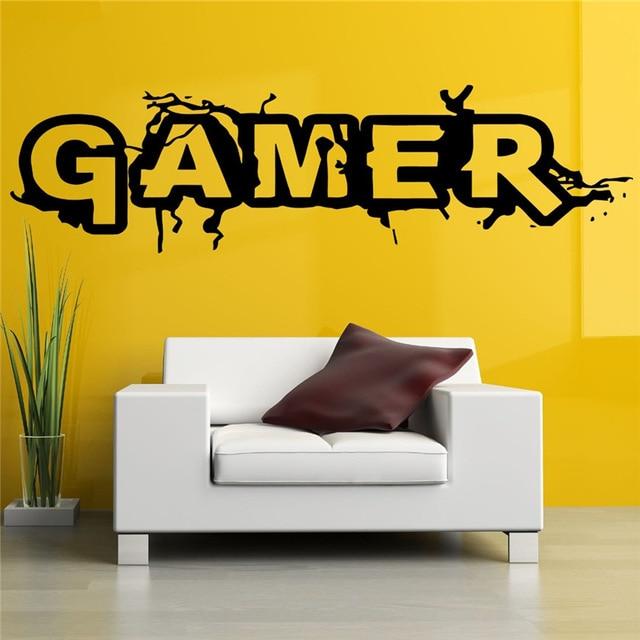 Wall Room Decor Art Vinyl Sticker Mural Decal Gamer Word