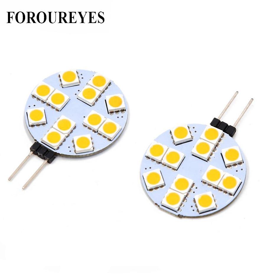 The Lowest Price G4 LED Round Range Hood Bulb 12v SMD5050 6/9/12/24 Leds LED Boat Light White / Warm White Bulb Lamp