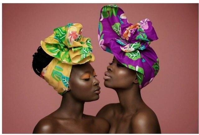 African Women Head Scarf Dashiki Women hair accessories ...