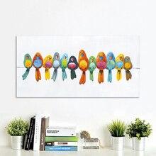 AAVV настенное искусство холщовая картина анимальный рисунок плакаты принты домашний декор птицы на проволоке без рамки