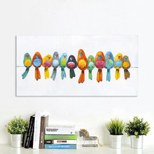 AAVV Wall Art Canvas Painting Animal Picture Posters Prints Home Decor Birds on Wire No Frame(China)