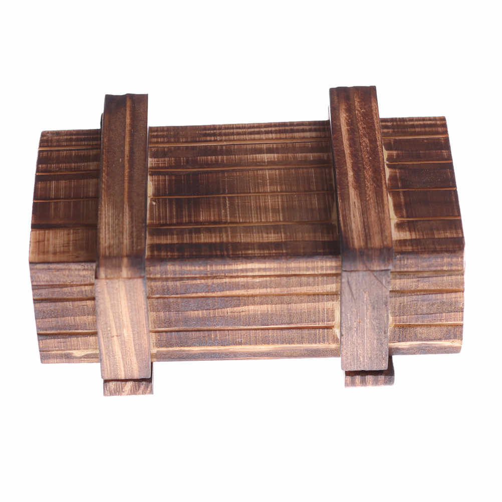 Rompecabezas de madera Vintage cajas con cajón secreto compartimento mágico cerebro Teaser juguetes de madera niños juguete de madera regalo