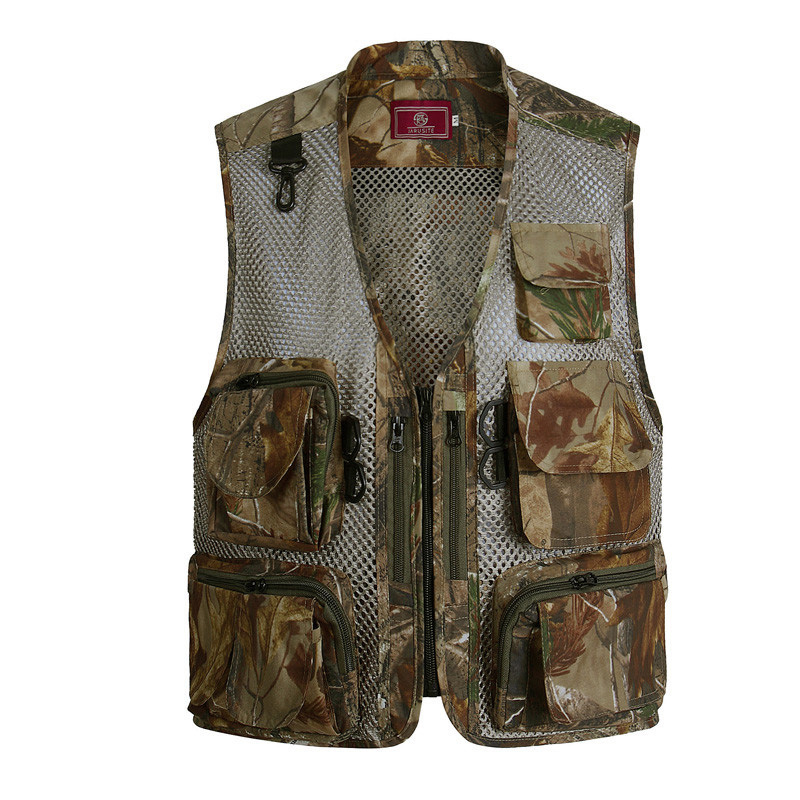 2017 Summer Waterproof Vest Quality Casual Camouflage Waistcoat Vest for Shooting Men's Photographer Sleeveless Jackets Size