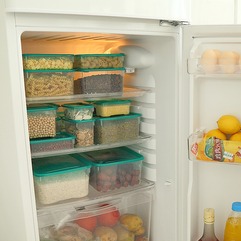 17PCS/Set Home Organizer Plastic Food Container Crisper Storage Box Food Box Can be Used in Refrigerator