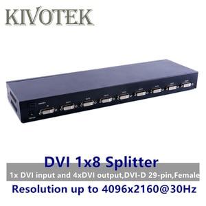 Image 1 - 8 Ports DVI Splitter,Dual link DVI D 1X8 Splitter Adapter Distributor,Female Connector 4096x2160 5VPower For CCTV Monitor Camera