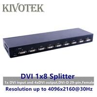 8 Ports DVI Splitter,Dual link DVI D 1X8 Splitter Adapter Distributor,Female Connector 4096x2160 5VPower For CCTV Monitor Camera