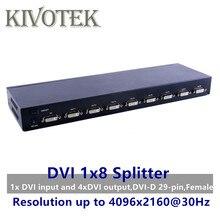 8 porte DVI Splitter, Dual link DVI D 1X8 Splitter Adapter Distributore, connettore femmina 4096x2160 5 Vpower Per Il Caso di CCTV Monitor Della Fotocamera