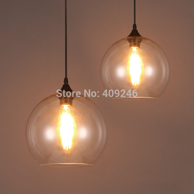 20CM Vintage Loft Industrial Edison Ceiling Glass Lamp DropLight Pendant Bar Cafe Coffee Shop american edison loft industrial vintage edison grid loft ceiling lamp droplight cafe bar club balcony e27 black white iron cage