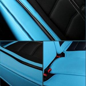 Image 3 - Sport Leder auto sitz abdeckung Für Toyota Corolla Camry Rav4 Auris Prius Yalis Avensis SUV auto zubehör auto styling kissen