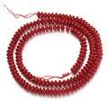 1 Strand/lote Tubo Espaçador Solta Pérolas de Coral Vermelho de Pedra Semi-preciosa para a Moda Jóias F2788