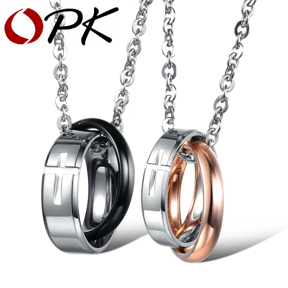 OPK Fashion Lovers Necklaces Classical 316L Stainless Steel Cross