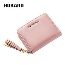 HUBARU nieuwe mode vrouwelijke kleine korte portemonnee PU rits portemonnee kwastje ontwerp portemonnee vrouwen foto houder
